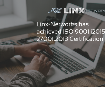 Linx-Networks has achieved ISO 9001, 27001